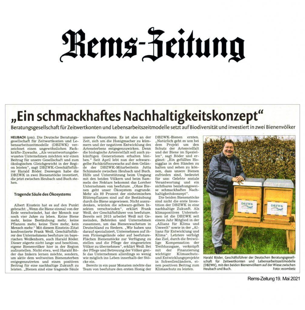 Artikel der Remszeitung